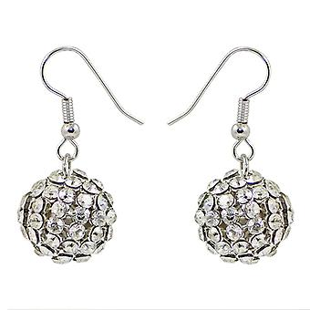 Crystal Mesh Ball Earrings EMB115.2