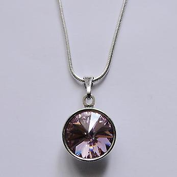Pendant necklace with light purple crystal PMB 2.3