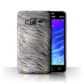 STUFF4 Case/Cover for Samsung Z1/Z130/Feathers/Animal Fur Pattern