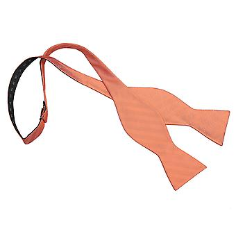Coral Herringbone Silk Thistle Self Tie Bow Tie
