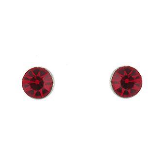 Clip auf Ohrringe Shop klassische Siam rot Crystal Stein Magnet-Clip auf Ohrringe