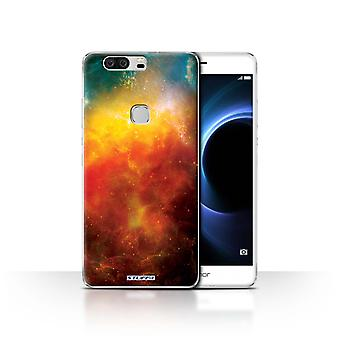 STUFF4 Case/Cover for Huawei Honor V8/Orange Nebula/Space/Cosmos