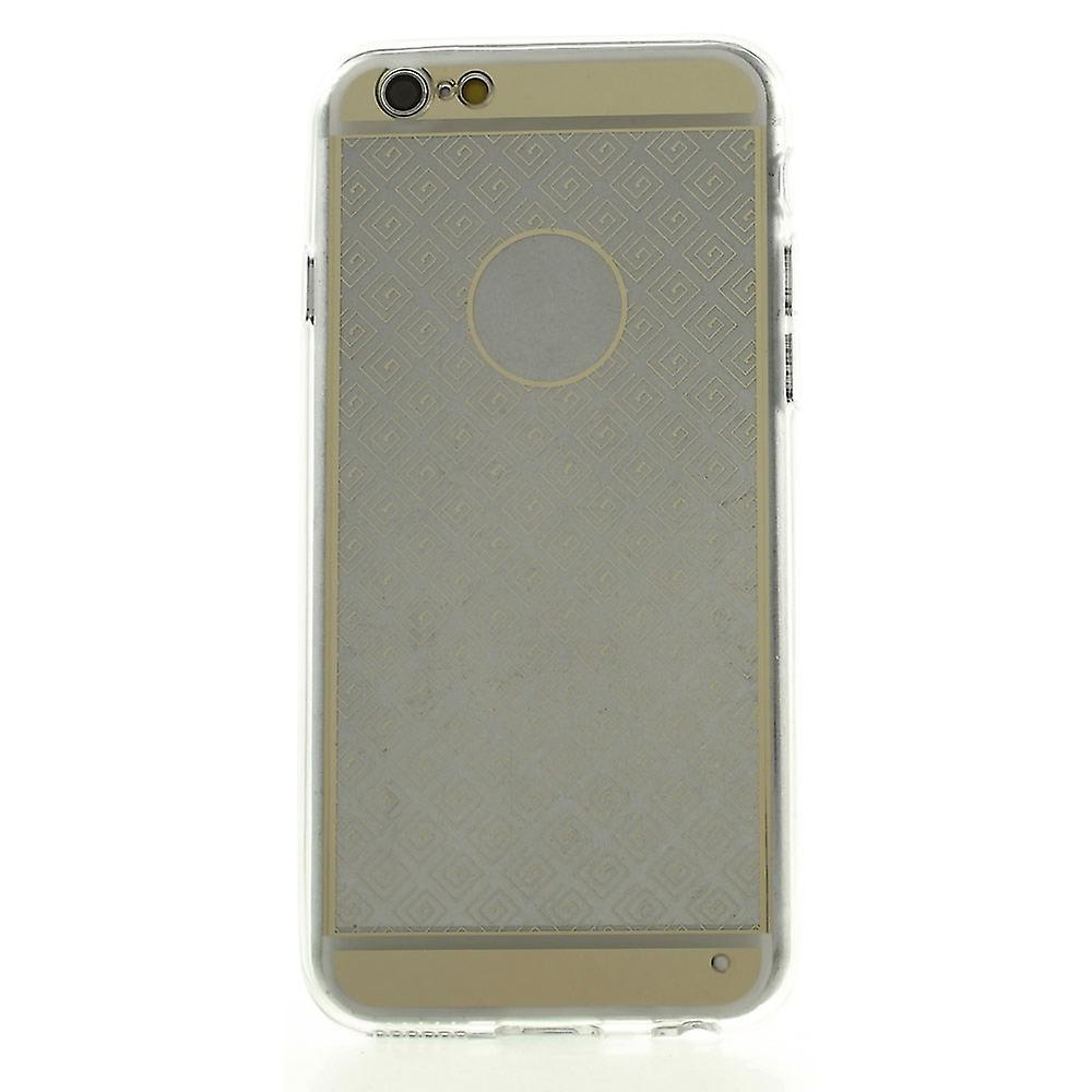 Capa geométrica em borracha TPU para iPhone 6 Plus 5.5 (Dourado)