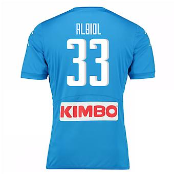 2016-17 Napoli Authentic Home Shirt (Albiol 33)