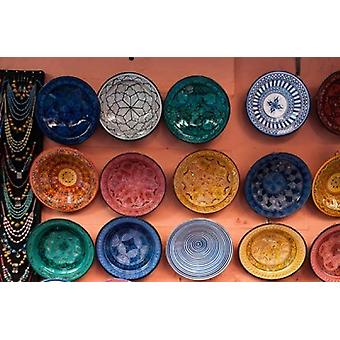 Pottery Traditional craft Marrakech Morocco Poster Print by Sergio Pitamitz