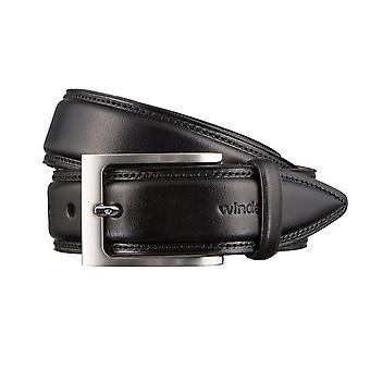 Windsor. Belts men's belts leather belt black 3168