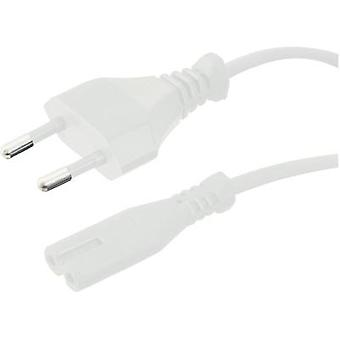 Current Cable [ Europlug - Small appliances socket (C7)] White 1.80 m HAWA 100827