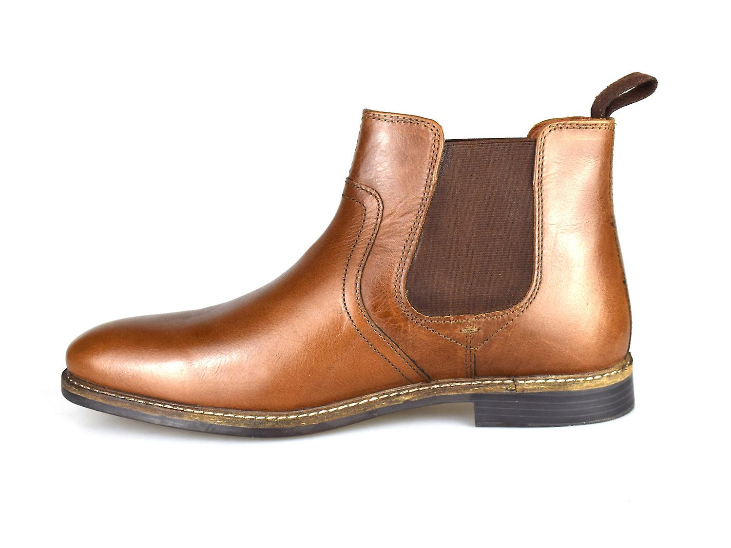 979e80c329f Red Tape Newton Tan Leather Mens Formal Chelsea Boots