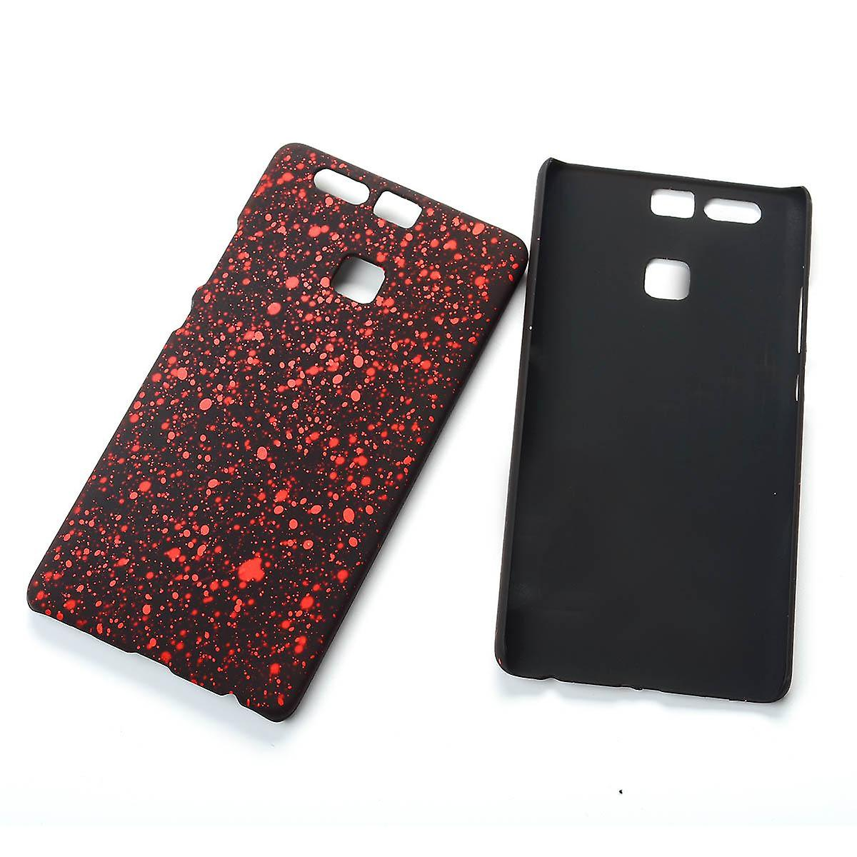 Cell phone cover case bumper shell for Huawei P9 3D stars red