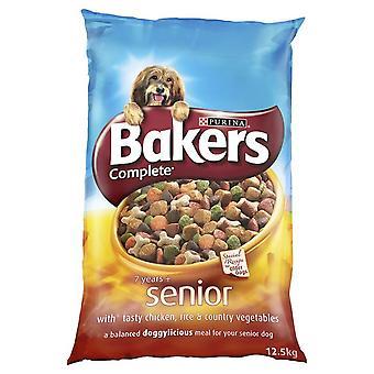 Bakers Complete Senior Bites 7+ Chicken Rice & Veg 12.5kg