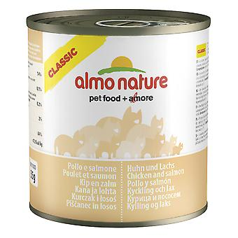 Almo Nature Classic Cat Chicken And Salmon 280g (Pack of 12)