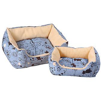 Scatty Cat Kalahari Bed Blue 46x41cm