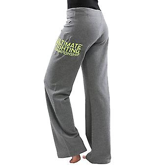 UFC TUF Women's Team Pettis Sweatpants - Grey/Neon Yellow