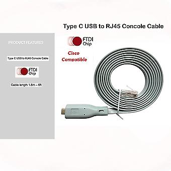 Cisco konsol kabel ny Type C USB til RJ45 - 1.8M (6 ft) FTDI Chip