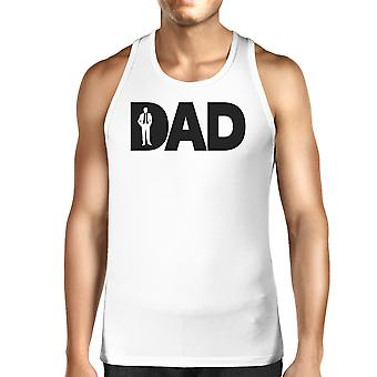 Dad Business Mens White Funny Tank Top Working Dad Graphic Tanks