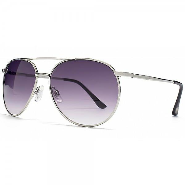 STORM Ion Aviator In Silver With A Gradient Grey Lens