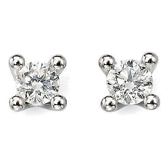 9 CT oro bianco diamante orecchino