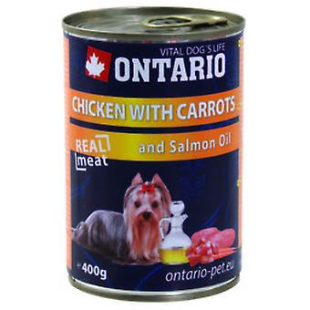 Ontario Dog Chicken/Carrots/Salmon Oil (Hunde , Hundefutter , Nassfutter)