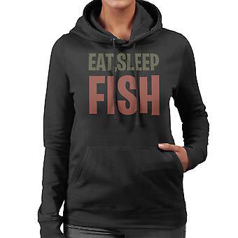 Comer sudadera con capucha dormir peces mujeres