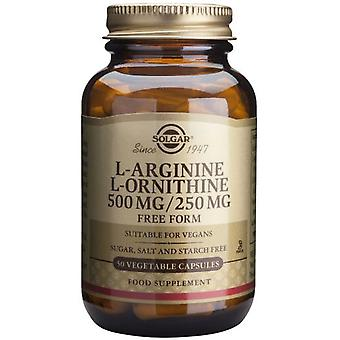 Solgar L-Arginina/l-Ornitina 500/250Mg. 50Vegicaps (Vitamins & supplements , Amino acids)
