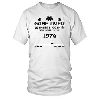 Game Over Insert Coin 1978 Space Invaders Mens T Shirt