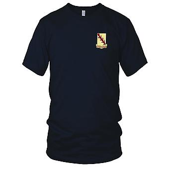 US Army - 32nd Cavalry Regiment Embroidered Patch - Mens T Shirt