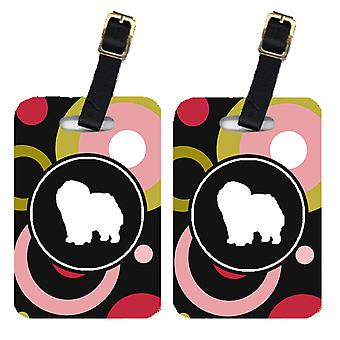 Carolines Treasures  KJ1125BT Pair of 2 Chow Chow Luggage Tags