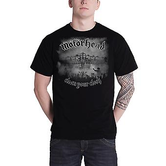 Motorhead T Shirt clean your clock live mens black lemmy new official