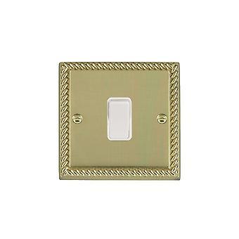 Hamilton Litestat Cheriton Georgian Polished Brass 1g 10AX Inter Rkr WH/WH