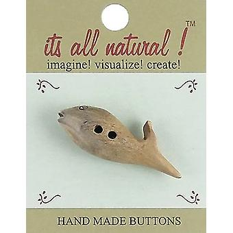 Handmade Horn Toggle Button-Dolphin 2