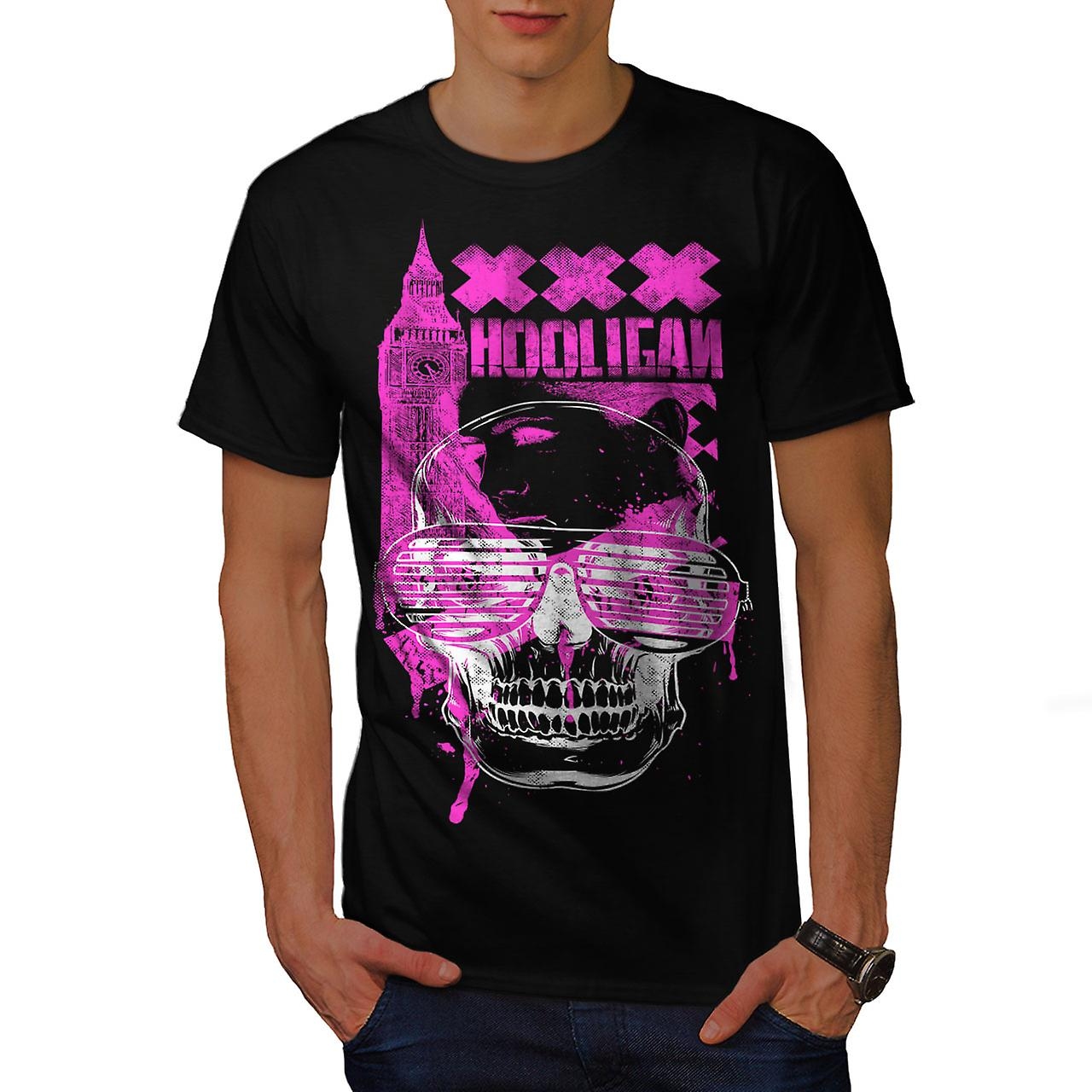 UK Hooligan Dead Gangster Men Black T-shirt | Wellcoda