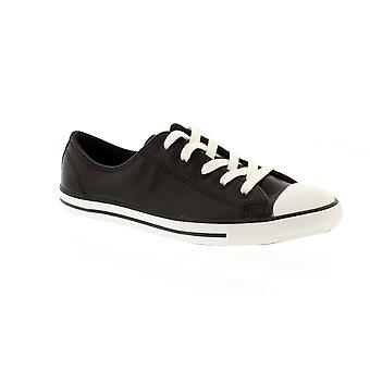 Converse Chuck Taylor All Star Dainty Leather - Black Womens Trainers