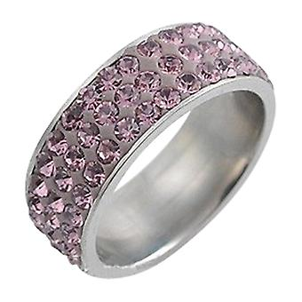 Stainless Steel Ring With Rhinestones Rt2320