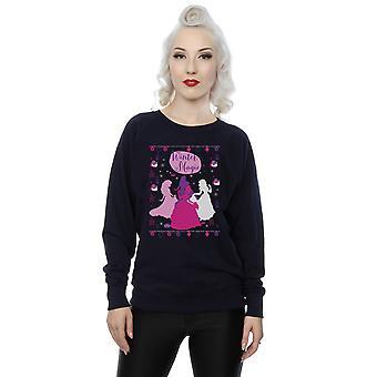 Disney Women's Princess Christmas Silhouettes Sweatshirt