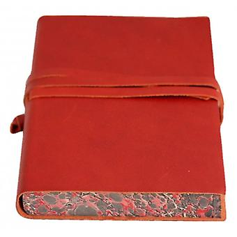 Coles Pen Company Chianti Large Marbled Journal - Red