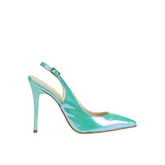 Cardiff ladies MCGLCAT03216E green leather heel shoes