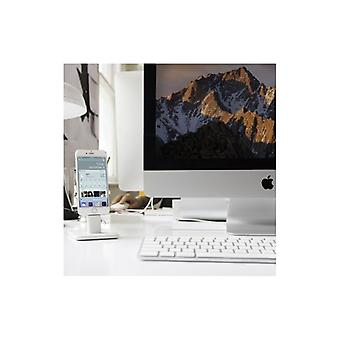 Twelve South HiRise Deluxe 2-Newly refined version with Lightning & Micro-USB Cable-WHITE