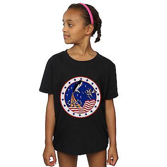 NASA Mädchen klassische Rakete 76 T-Shirt