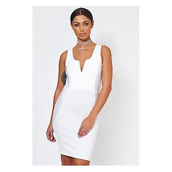 The Fashion Bible Saisha White Bodycon Dress