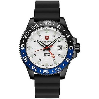 Swiss military mens watch GMT Nero scuba 27751