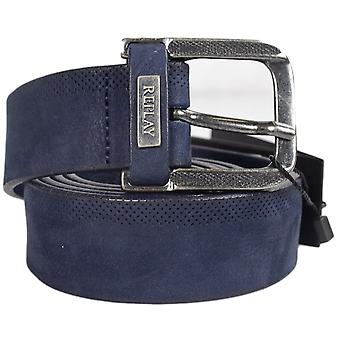 Replay Am2499 Navy Leather Belt