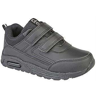 Infant Boys Kids Touch Fastening Air School Casual Smart Trainers Shoes