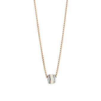 ESPRIT collection dames collier necklace argent Rosé les algues ELNL92896B420