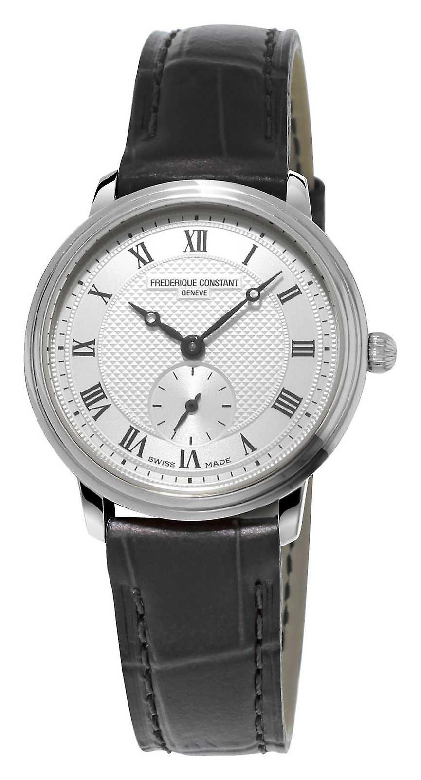Frédérique Constant Slimline femmes cuir marron bracelet Ultra Slim FC-235M1S6 montre