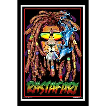 Rastafari Blacklight Poster Print
