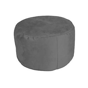 Stool seat footstool Pouffe about ALKA charcoal 34 x 47 x 47 cm