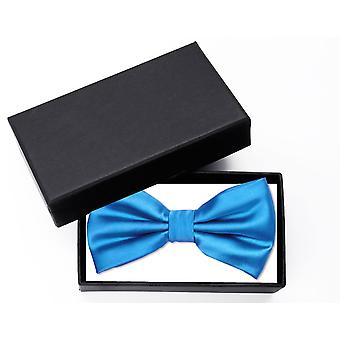 Fly blue uni fine loop Fabio Farini shine bow tie