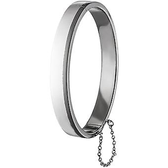 Men's Bangle Bracelet 925 sterling silver men's bracelet with safety chain