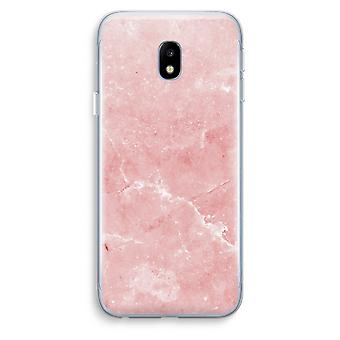 Samsung Galaxy J3 (2017) Transparent Case (Soft) - Pink Marble