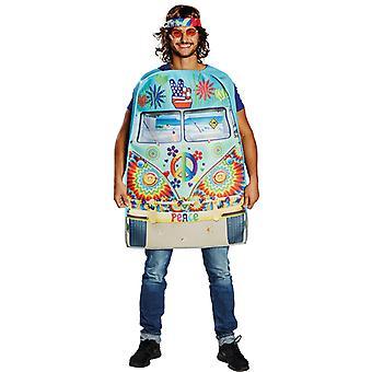 Hippie bus men love peace hippy costume Carnival